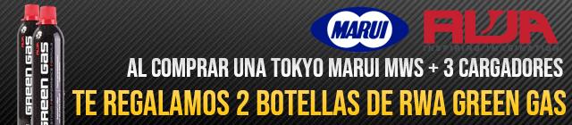 Compra tu Tokyo Marui MWS y 3 Cargadores y te regalamos 2 botellas de gas RWA Gratis!
